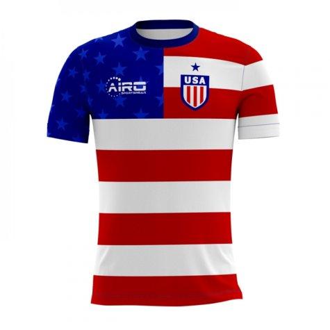 2020-2021 USA Home Concept Football Shirt