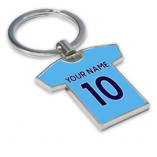 Personalised Man City Key Ring
