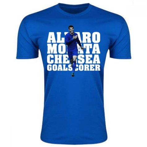 Alvaro Morata Chelsea Player T-Shirt (Blue)