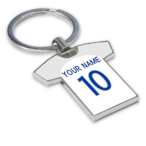Personalised England Football Shirt Key Ring