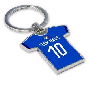 Personalised Italy Football Shirt Key Ring