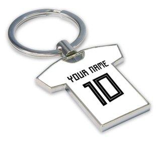 Personalised Germany Football Shirt Key Ring