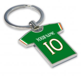 Personalised Ireland Football Shirt Key Ring