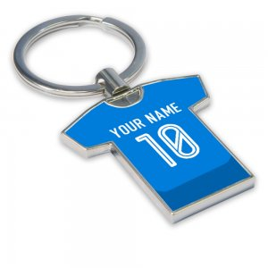 Personalised Napoli Football Shirt Key Ring