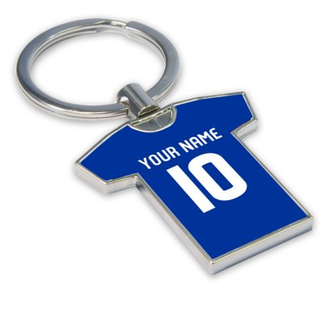 Personalised Rangers Football Shirt Key Ring