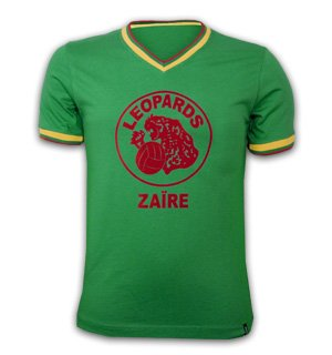 Za?re WC 1974 Qualification Short Sleeve Retro Shirt 100% cotton