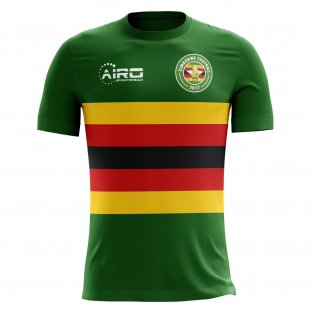 2020-2021 Zimbabwe Home Concept Football Shirt - Kids