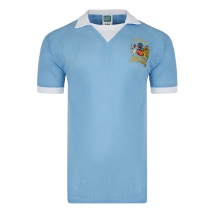 c7ace059f Score Draw Manchester City 1976 League Cup Final Airtex Home Shirt