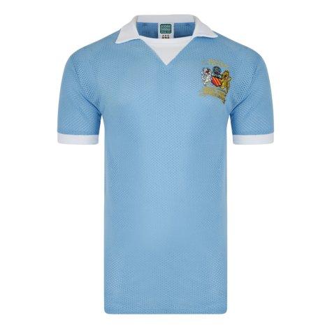 Score Draw Manchester City 1976 League Cup Final Airtex Home Shirt