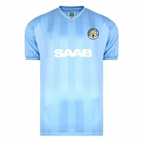 Score Draw Manchester City 1984 Home Shirt