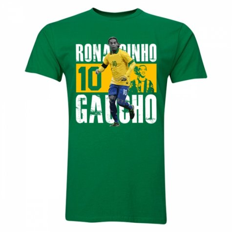 Ronaldinho Number 10 Player T-Shirt (Yellow)