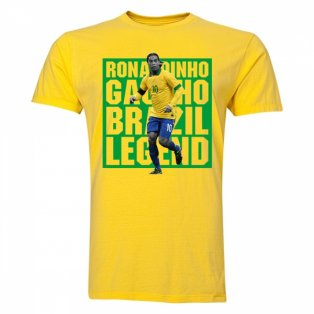 Ronaldinho Brazil Player T-Shirt (Yellow) - Kids