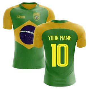 2018-2019 Brazil Flag Concept Football Shirt (Your Name)