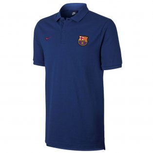 2017-2018 Barcelona Nike Core Polo Shirt (Deep Royal)