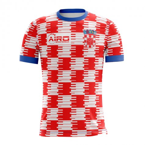 142130200a7 2018-2019 Croatia Home Concept Football Shirt  CROATIAH  - Uksoccershop
