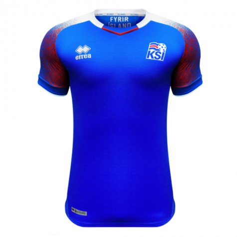 ad7282cd798 2018-2019 Iceland Home Errea Football Shirt (Kids) [SMKI7C04410IN ...