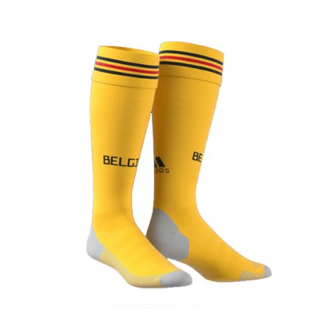 2018-2019 Belgium Away Adidas Football Socks (Yellow)