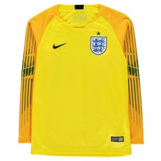 2018-2019 England Home Nike Goalkeeper Shirt (Yellow) - Kids