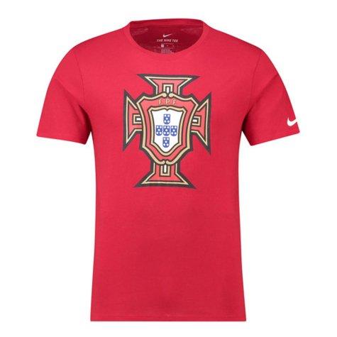 2018-2019 Portugal Nike Evergreen Crest Tee (Red) - Kids