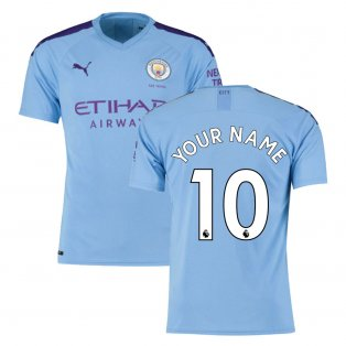 2019-2020 Manchester City Puma Home Football Shirt (Your Name)