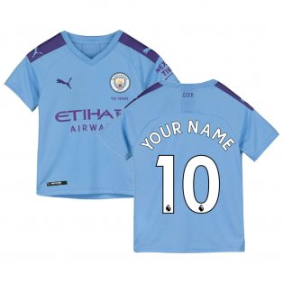 2019-2020 Manchester City Puma Home Football Shirt (Kids) (Your Name)