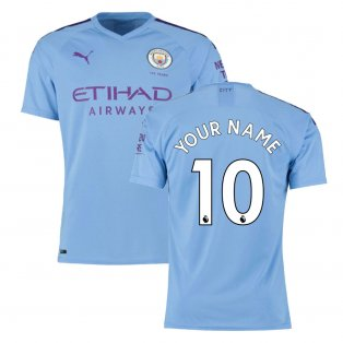 2019-2020 Manchester City Puma Home Authentic Football Shirt (Your Name)