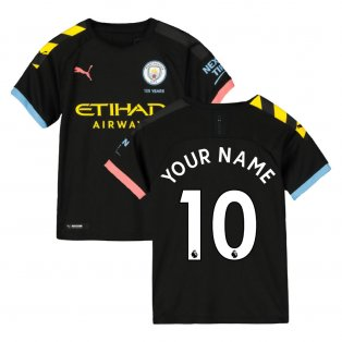 2019-2020 Manchester City Puma Away Football Shirt (Kids) (Your Name)