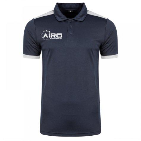 Airo Sportswear Heritage Polo Shirt (Navy-Silver)