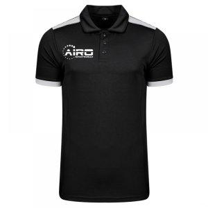 Airo Sportswear Heritage Polo Shirt (Black-Silver)