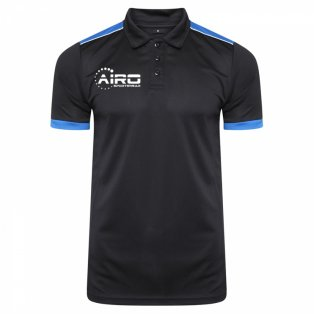 Airo Sportswear Heritage Polo Shirt (Black-Royal)