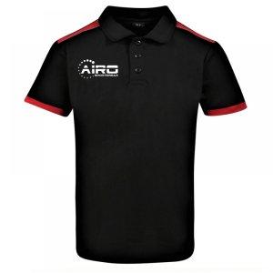 Airo Sportswear Heritage Polo Shirt (Black-Red)