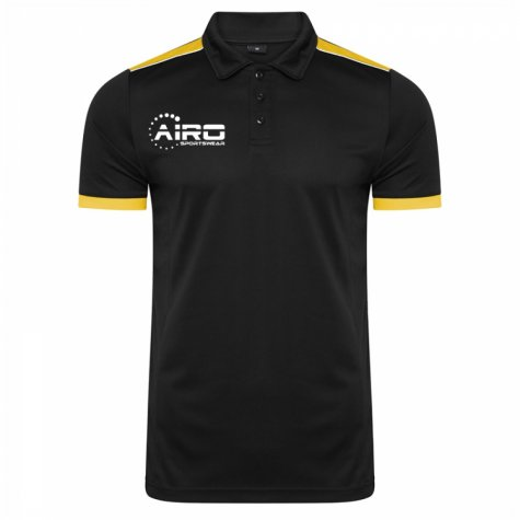 Airo Sportswear Heritage Polo Shirt (Black-Amber)