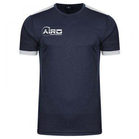 Airo Sportswear Heritage Training Tee (Navy-Silver)