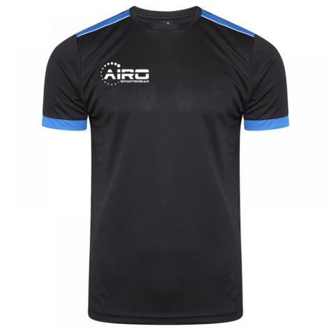 Airo Sportswear Heritage Training Tee (Black-Royal)