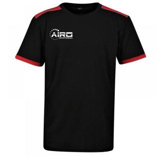 Airo Sportswear Heritage Training Tee (Black-Red)