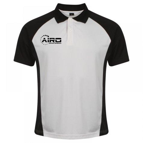 Airo Sportswear Matchday Polo Shirt (White-Black)