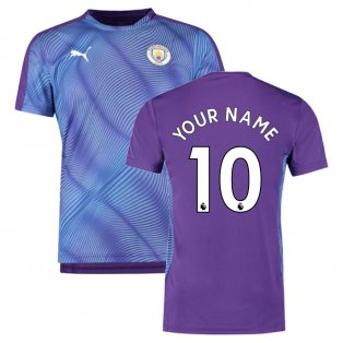 2019-2020 Manchester City Puma Stadium Jersey (Purple) (Your Name)