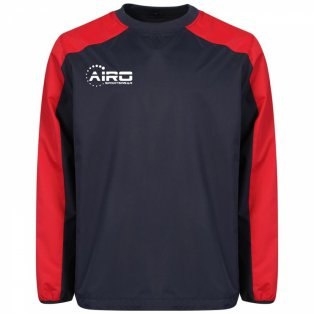 Airo Sportswear Pro Windbreaker (Navy-Red)