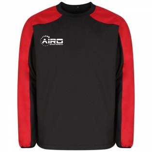 Airo Sportswear Pro Windbreaker (Black-Red)