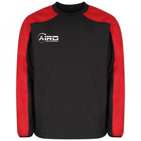 Airo Sportswear Pro Windbreaker (Black-Red)