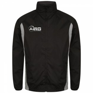 Airo Sportswear Tracksuit Top (Black-Silver)