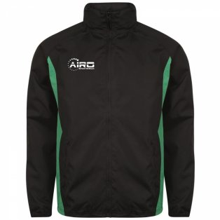 Airo Sportswear Tracksuit Top (Black-Green)
