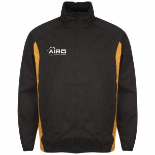 Airo Sportswear Tracksuit Top (Black-Amber)