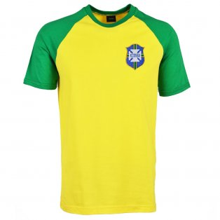 Brazil 2018 Raglan Home Retro Football Shirt