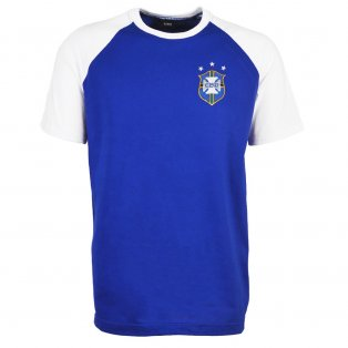 Brazil 2018 Raglan Away Retro Football Shirt