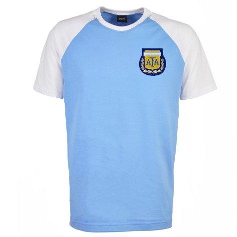 Argentina 2018 Raglan Home Retro Football Shirt