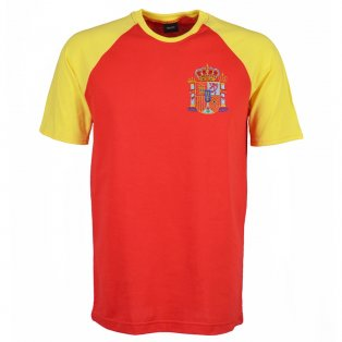 Spain 2018 Raglan Retro Football Shirt