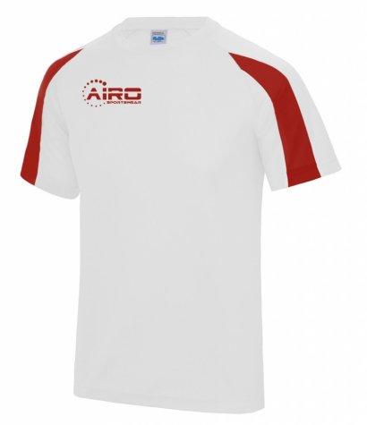 Airo Sportswear Contrast Training Tee (White-Red)