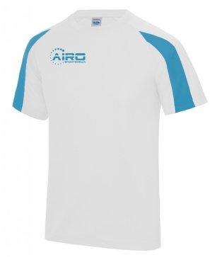 Airo Sportswear Contrast Training Tee (White-Sky Blue)