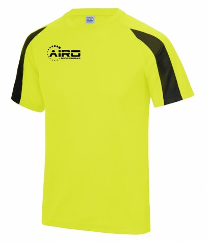 Airo Sportswear Contrast Training Tee (Yellow-Black)